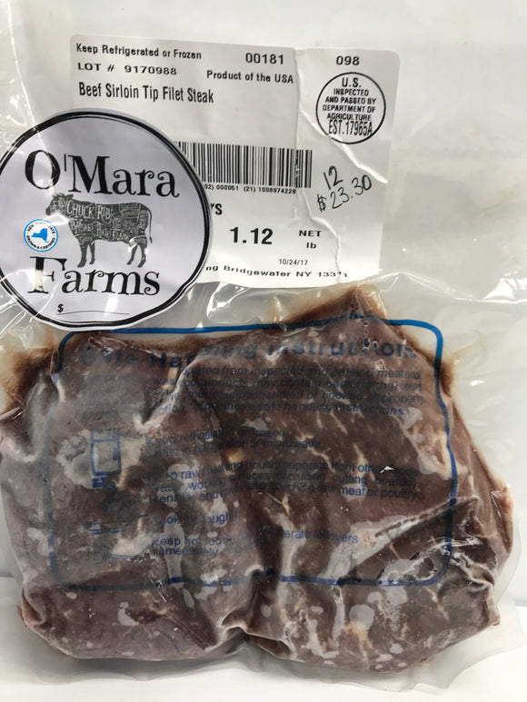 O'Mara Farms Sirloin Tip Filet Steak