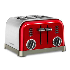 Cuisinart 4 Slice Metal Toaster, Red