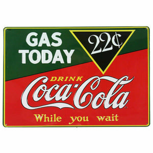 Ande Rooney Tin Sign, Coca-Cola Gas Today