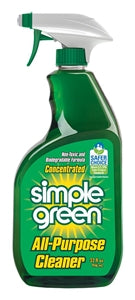 Simple Green 2710001213033 Concentrated All-Purpose Cleaner, Green, 32 oz Spray Bottle