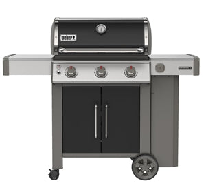 Genesis II E-315 Gas Grill, iGrill 3 Compatible, 3 Stainless Steel Burners, LP, Black