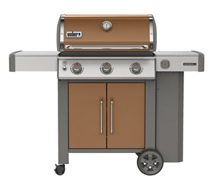 Genesis II E-315 Gas Grill, iGrill 3 Compatible, 3 Stainless Steel Burners, LP, Copper