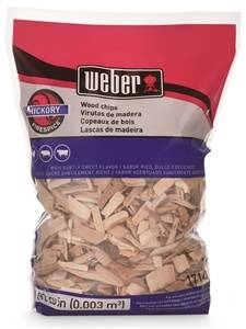 Weber 17143 Hickory Wood Chips, 192 cu-in Bag