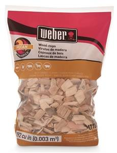 Weber 17136 Pecan Wood Chips, 192 cu-in Bag, 2lb