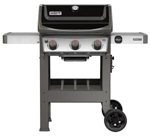 Weber Spirit II E-310 Gas Grill, Liquid Propane, Cast Iron, Black/SS