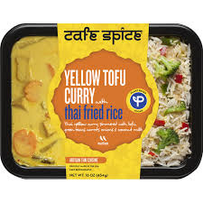 Cafe Spice Curry Yellow Tofu w/Thai Fried Rice