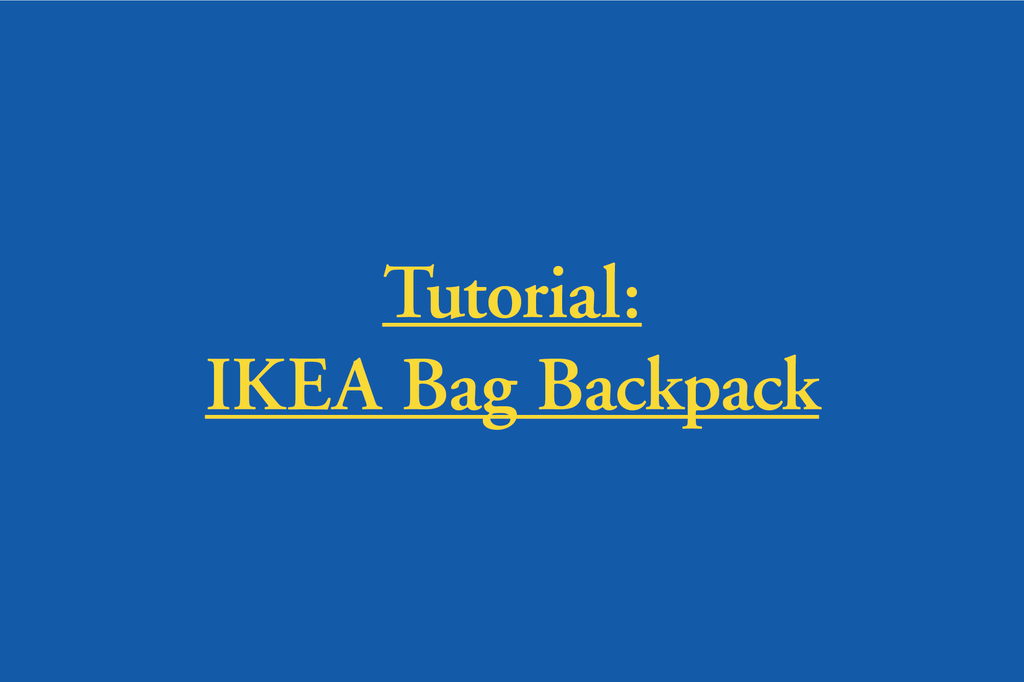 IKEA Fratka Backpack Tutorial