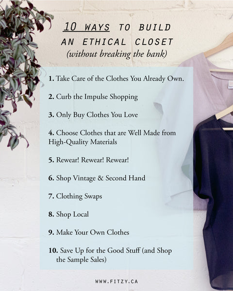10 Way to Build a More Ethical Wardrobe - Fitzy
