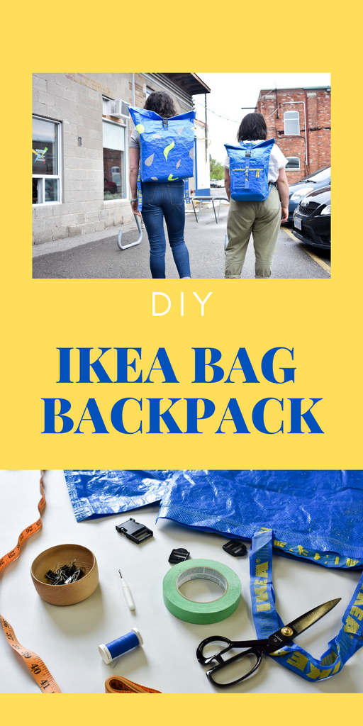 Ikea Frakta Backpack Tutorial by Fitzy & Light + Paper