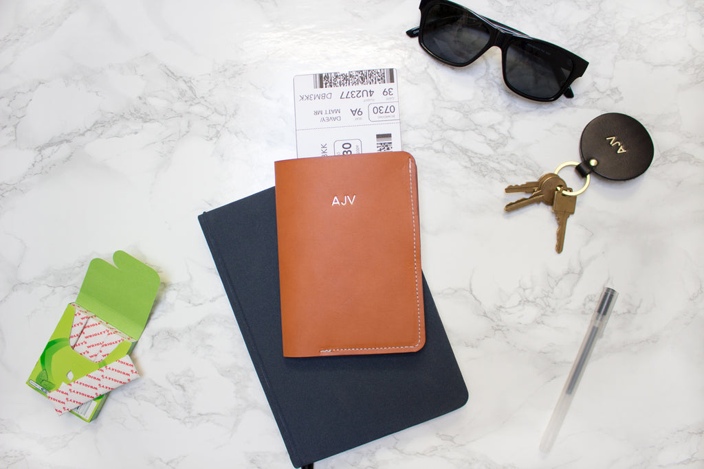 Monogrammed Passport Wallet