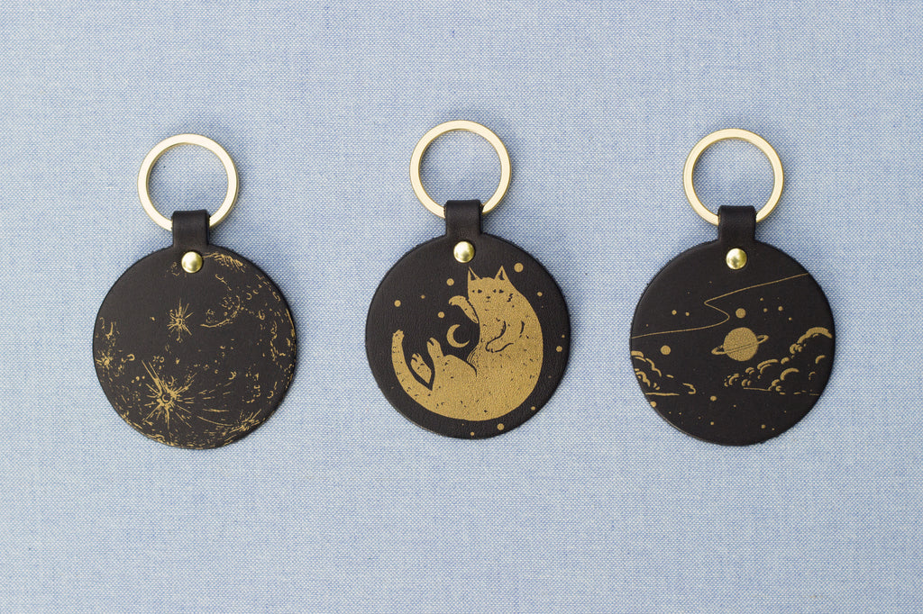 Round Galaxy Keyfobs