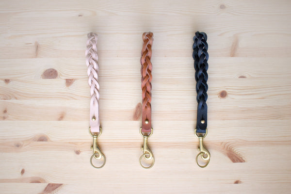 Black Braided Lanyard