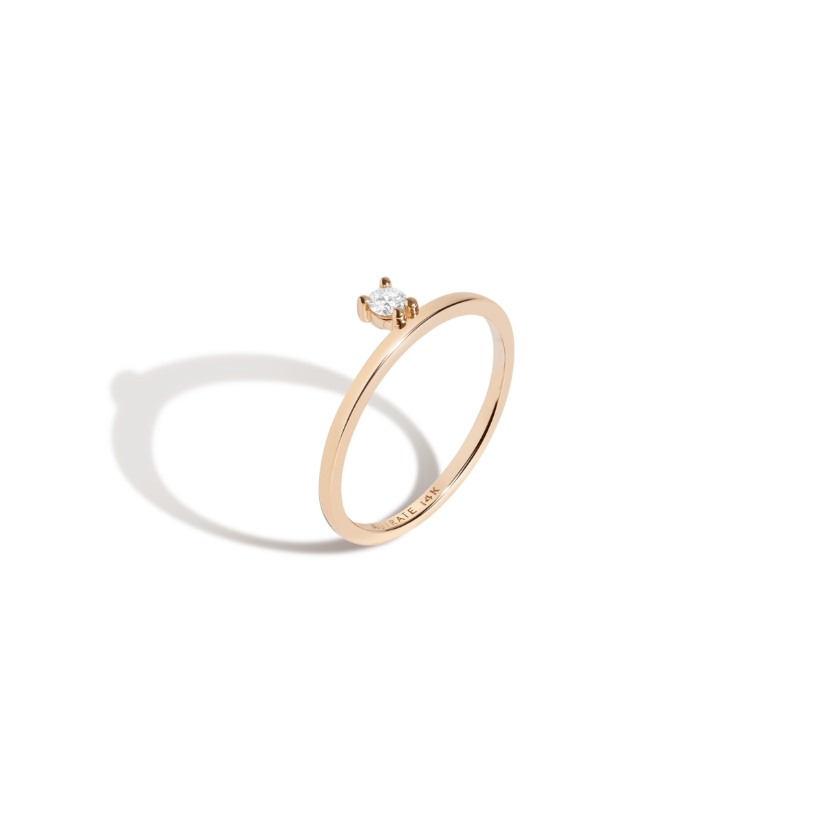 Floating Diamond Ring 14K gold AUrate