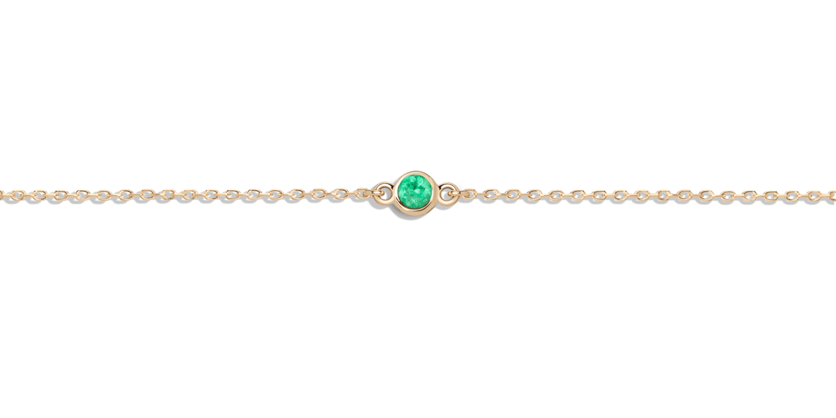 Birthstone Bracelet with Emerald