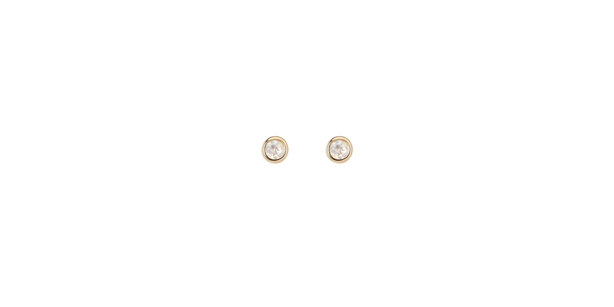 Birthstone studs with White Topaz