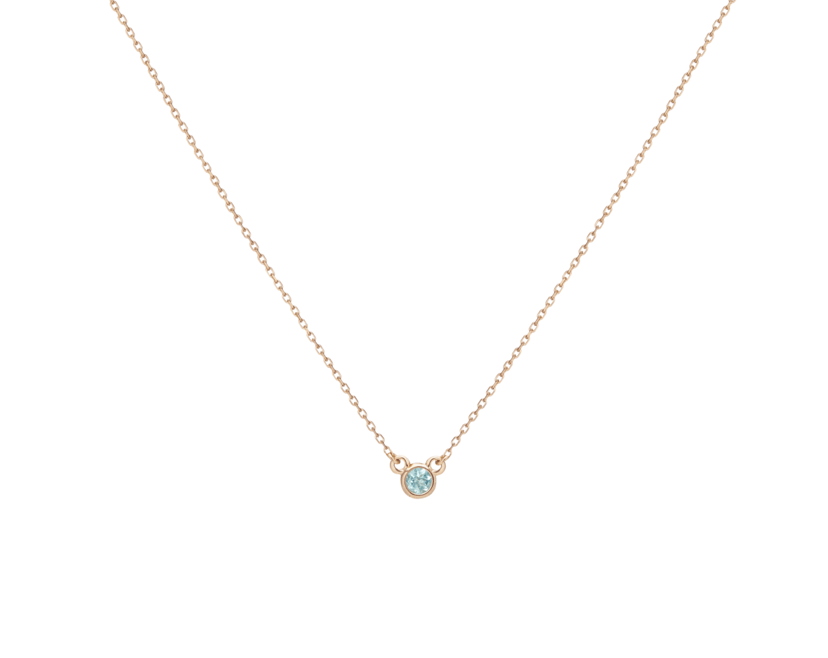 Birthstone necklace with Aquamarine