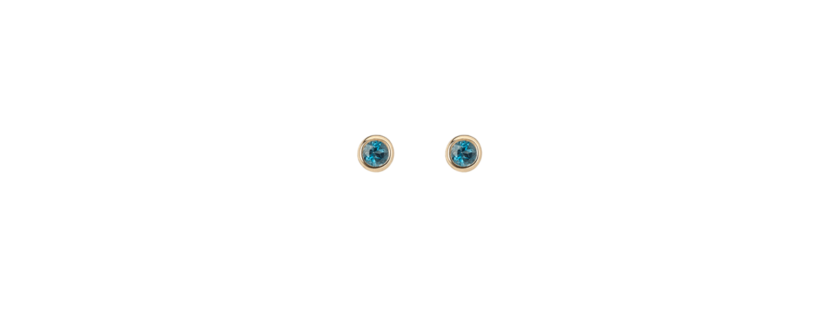 Birthstone Studs with London Blue Topaz