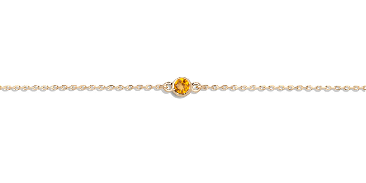 Birthstone Necklace with Citrine