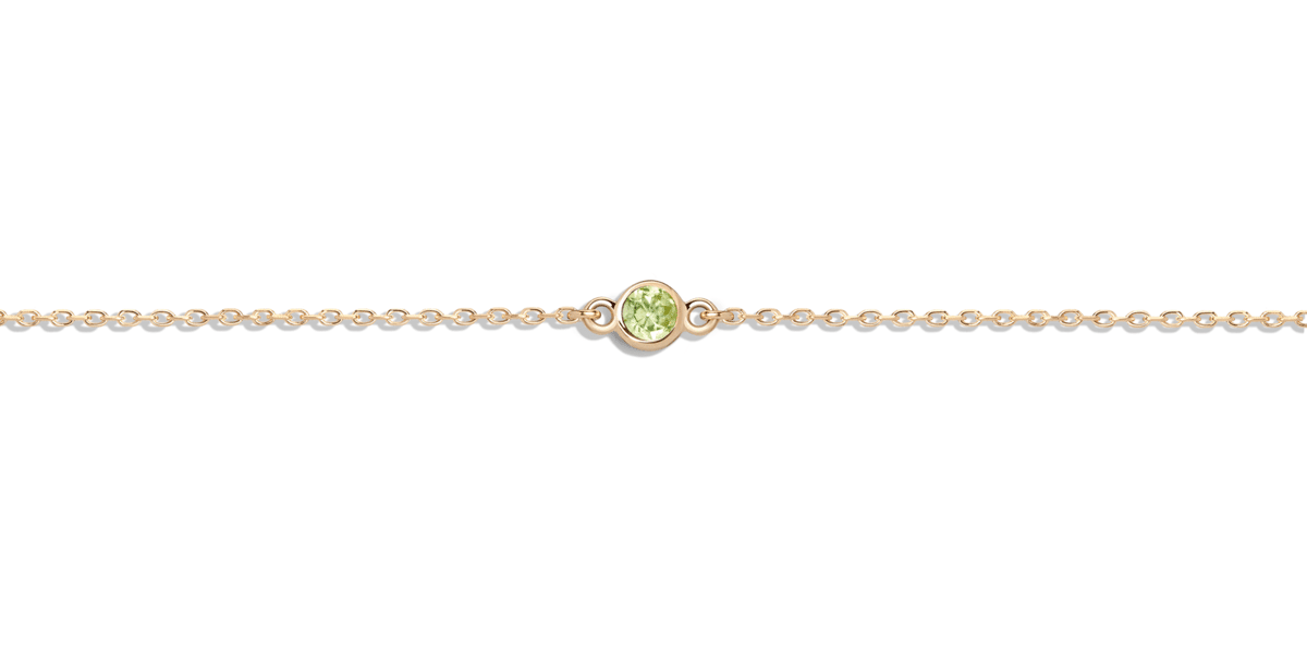 Birthstone Bracelet with Peridot