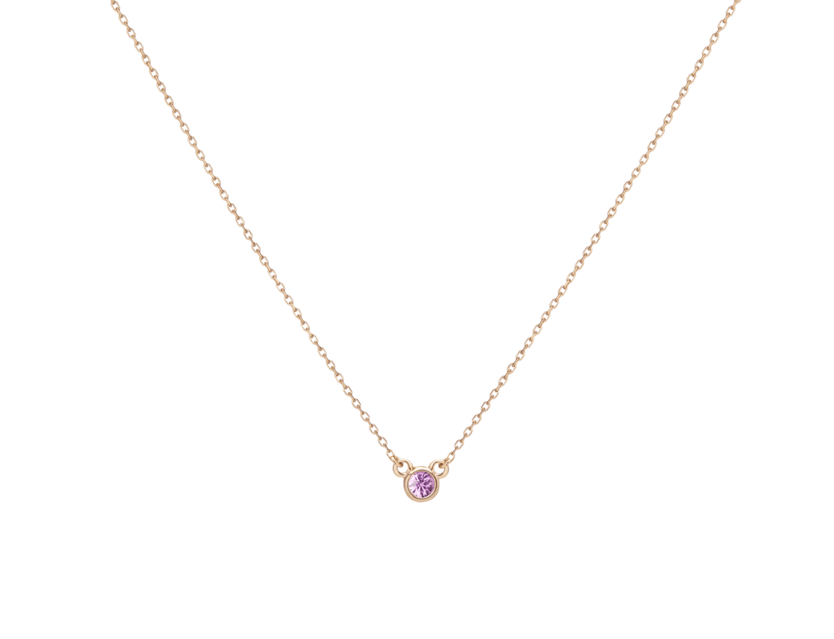 Birthstone Necklace with Pink Sapphire