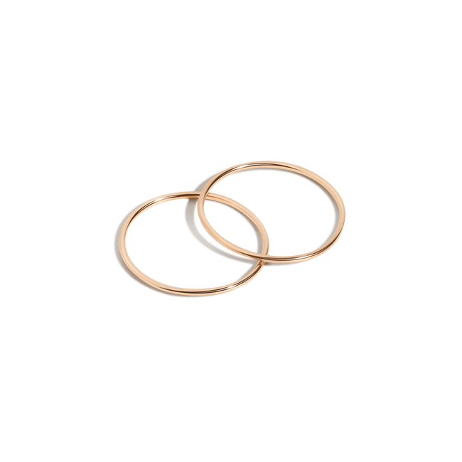 5799198a3e0862 Simple Stacking Set Yellow Gold Vermeil 14K Yellow Gold 18K Yellow Gold  First ...