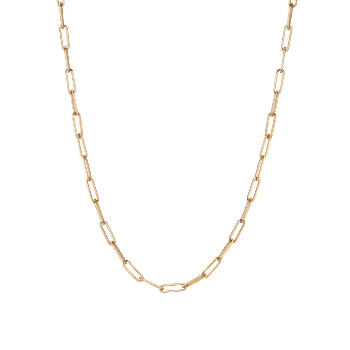 Large Chain Necklace Yellow Gold Vermeil 14K 14K Lightweight 18in 22in First
