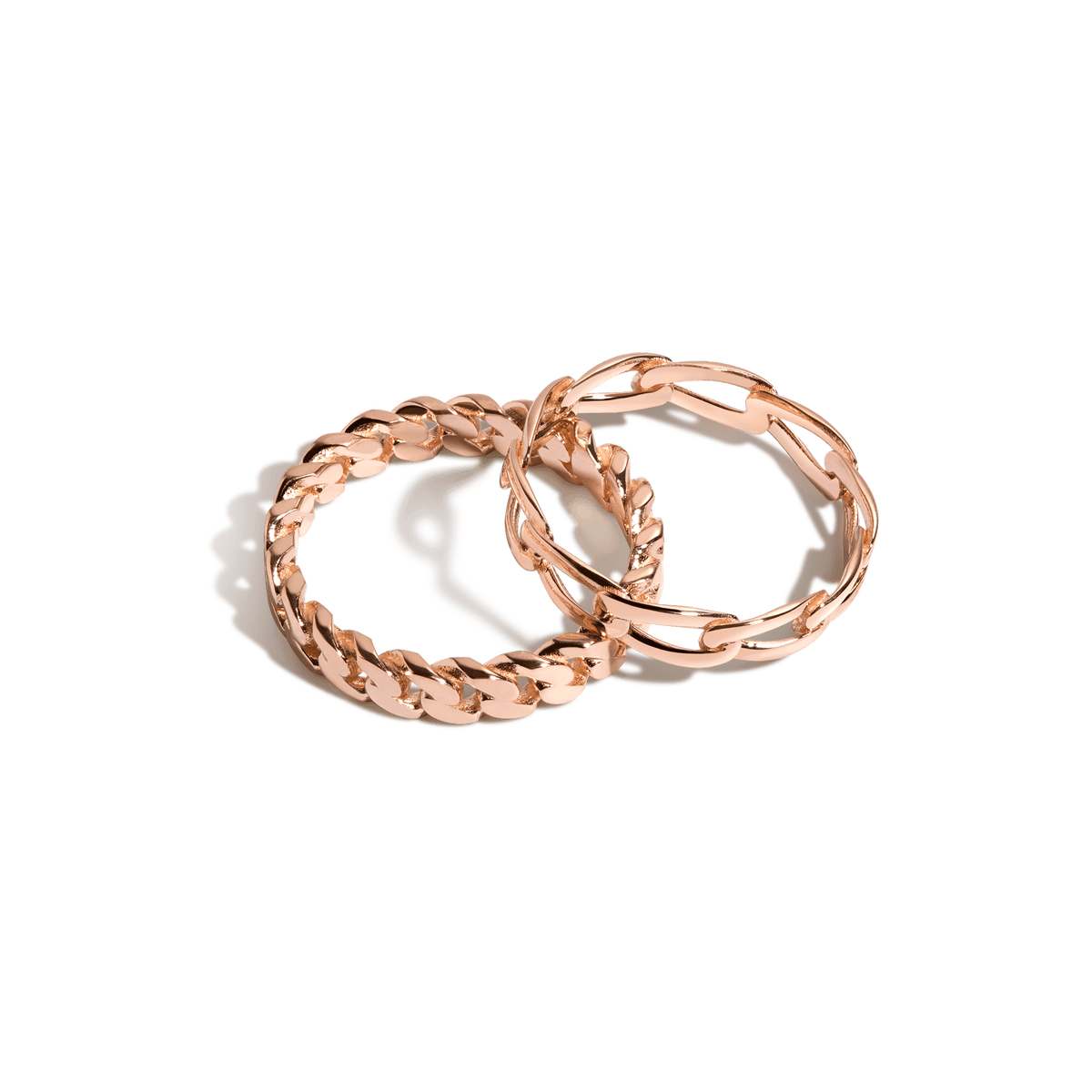 The Statement Chain Ring Set Vermeil Rose Gold First