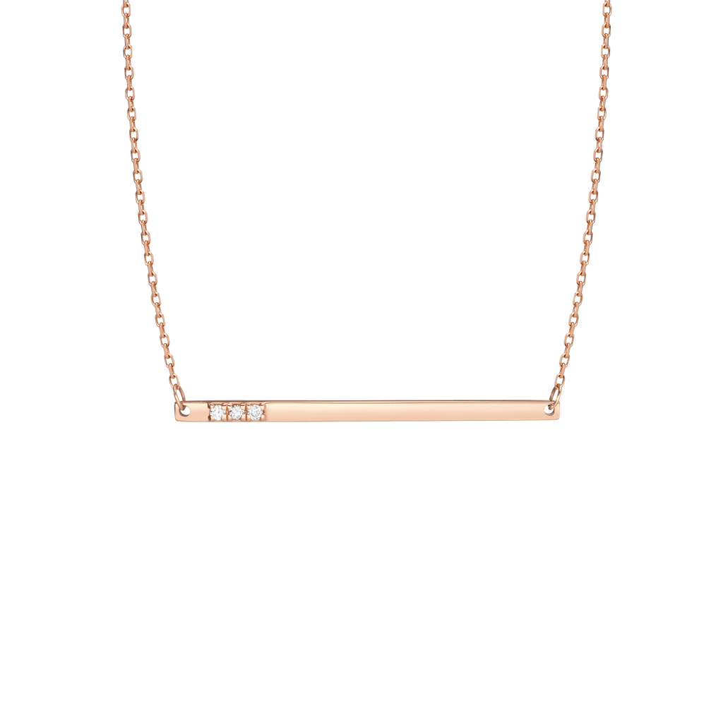 409974d98a752 Gold Bar Necklace With Diamonds