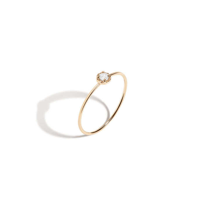 Solid Gold Ring White Gold Ring Graduation Gift 14k Gold Ring Diamond Stacking Ring Gold Stackable Rings Dainty Gold Ring
