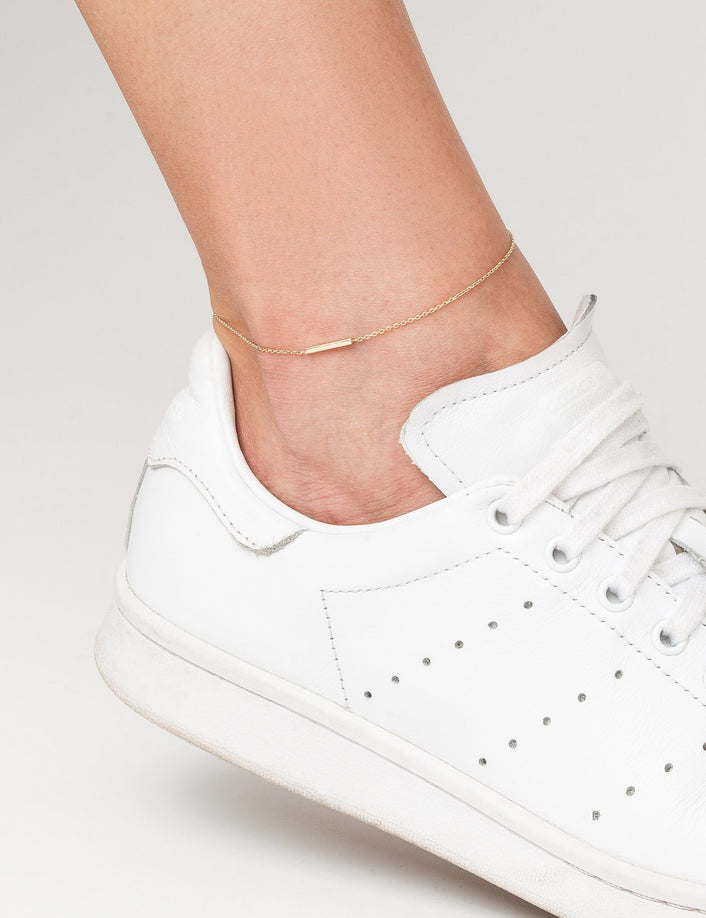 Midi Gold Bar Anklet