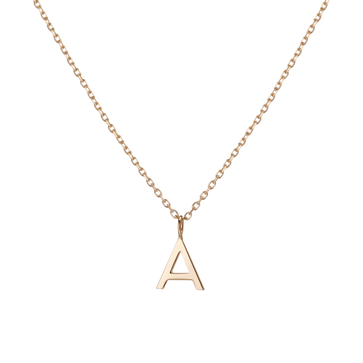 Details about  /Letter H 18K Solid White GOLD Rose Alphabet Pendant Initial Necklace Charm Jewel