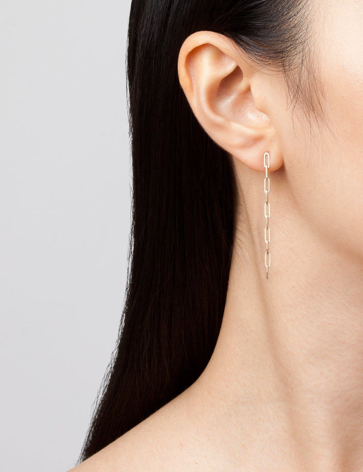 Sway Medium Chain Earrings Long