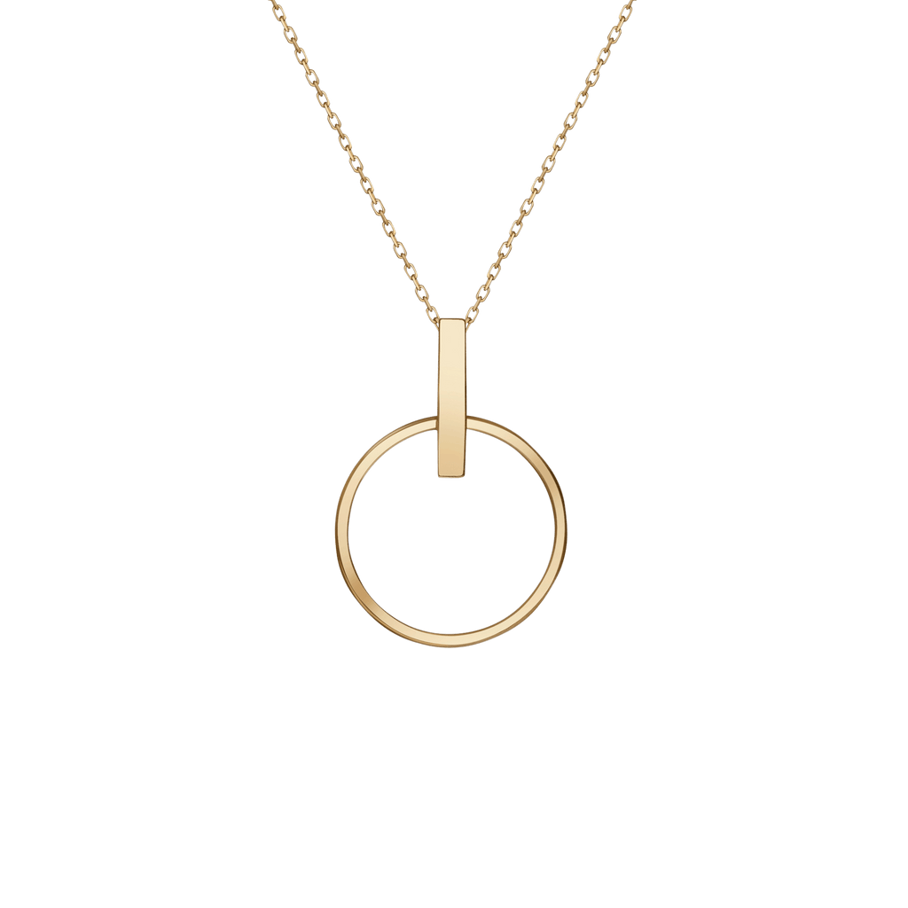 Wedding Gift Stores Nyc: Circle Necklace In Yellow, Rose Or White Gold