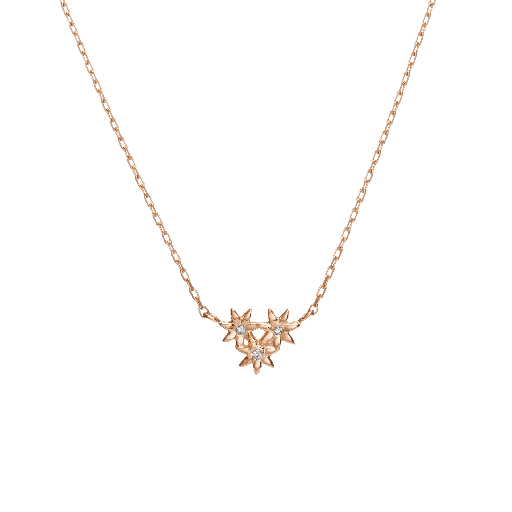 Flower Necklace Mini Pendant with Diamonds – AUrate New York