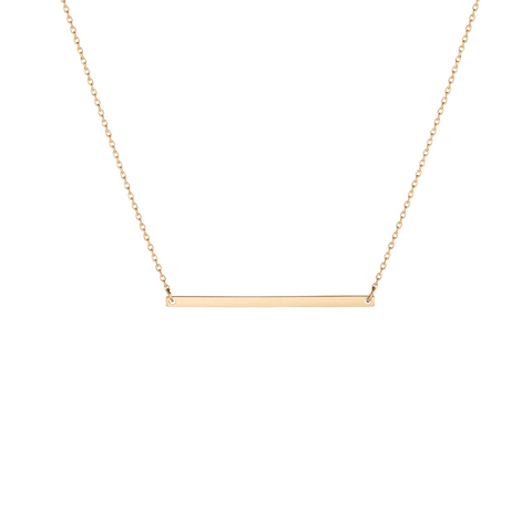 Gold necklaces aurate new york gold bar necklace yellow gold vermeil 14k yellow gold 18k yellow gold front first aloadofball Choice Image