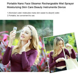 USB Rechargeable Portable Face Steamer cum Spray Hydrating Skin Nebulizer with mobile charger
