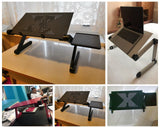 Adjustable Aluminum Laptop Portable Table With Mouse Pad