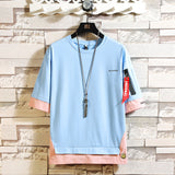 Half Short Sleeves O Neck T-shirt For Men