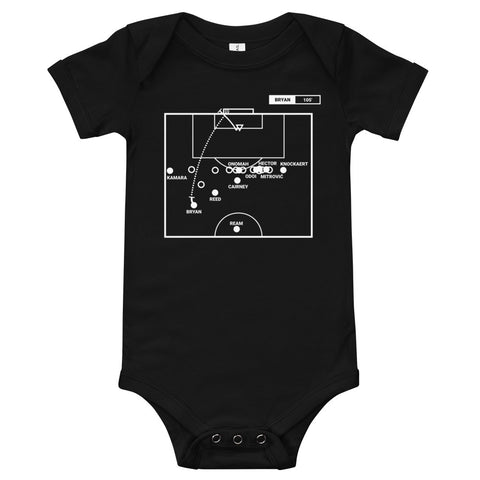 Greatest Fulham Plays Baby Bodysuit: 40 yards out (2020)