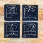 Greatest Ducks Plays: Leatherette Coasters (Set of 4)