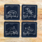 Champions Lakers 2020 Plays - Leatherette Coasters (Set of 4)