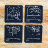 Greatest Canadiens Plays: Leatherette Coasters (Set of 4)