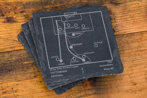 Greatest Arsenal Plays: Slate Coasters (Set of 4)