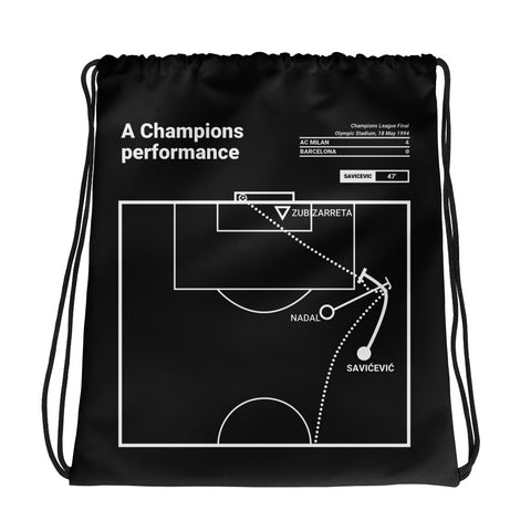 Greatest AC Milan Plays Drawstring Bag: A Champions performance (1994)