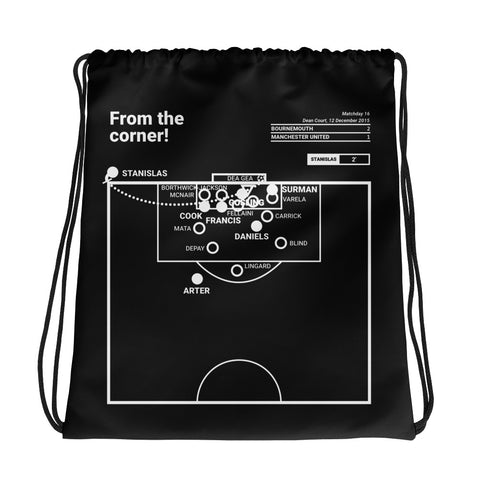 Greatest Bournemouth Plays Drawstring Bag: From the corner! (2015)