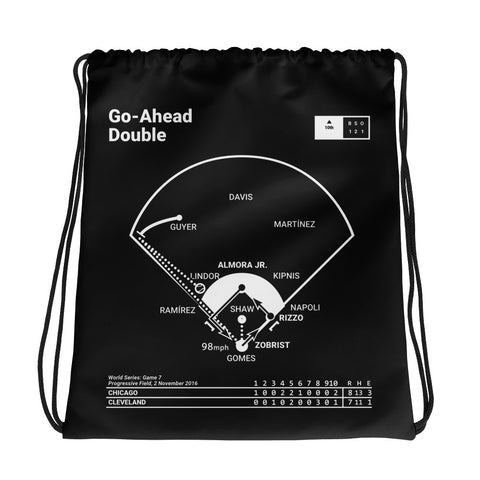 Greatest Cubs Plays Drawstring Bag: Go-Ahead Double (2016)