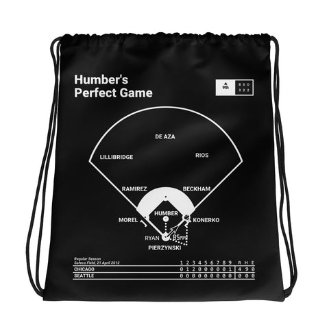 Greatest White Sox Plays Drawstring Bag: Humber's Perfect Game (2012)