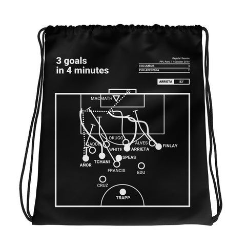 Greatest Columbus Plays Drawstring Bag: 3 goals in 4 minutes (2014)
