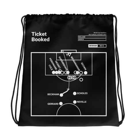 Greatest England Plays Drawstring Bag: Ticket Booked (2001)