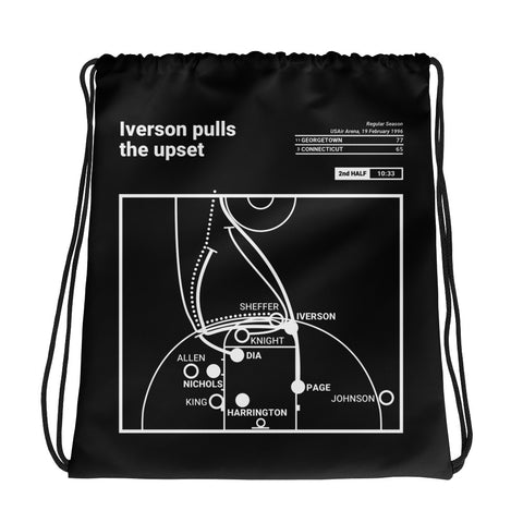 Greatest Georgetown Plays Drawstring Bag: Iverson pulls the upset (1996)